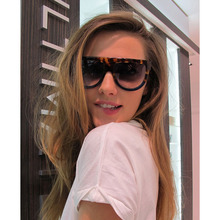 2019 New large frame fashionable sunglasses trendy ladies Flat Top Modeling of Brand Design Sunglasses UV400