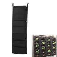 7 Pockets Wall Garden Hanging Planting Bags Vertical Outdoor Indoor Planter