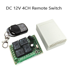 433 мГц Универсальный Беспроводной Дистанционное Управление Переключатель DC12V 4ch реле Модуль приемника и 1 шт. 4 канала РФ дистанционного 433 мГц передатчик