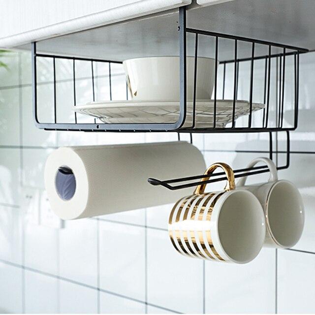 Metal Kitchen Cupboard Hanging Cabinet Hanging Cabinet Hanging Basket No  Hole In The Storage Shelf Packing