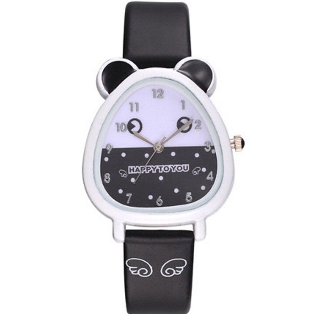 Lovely Animal Design Boy Girls Children Quartz Wrist Watch Leather Band Cartoon Watches Clock Kid's Birthday Gift Relogio