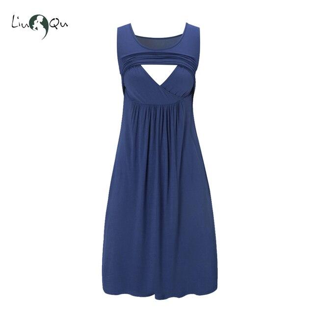 13c488ab5 Lactancia Vestido de las mujeres vestidos de maternidad Premama Vestido de  embarazo