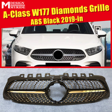 W177 A class Diamonds grille grill abs Black A160 A180 A200 250 Models from april 2018 Only for Without 360 Degree Camera