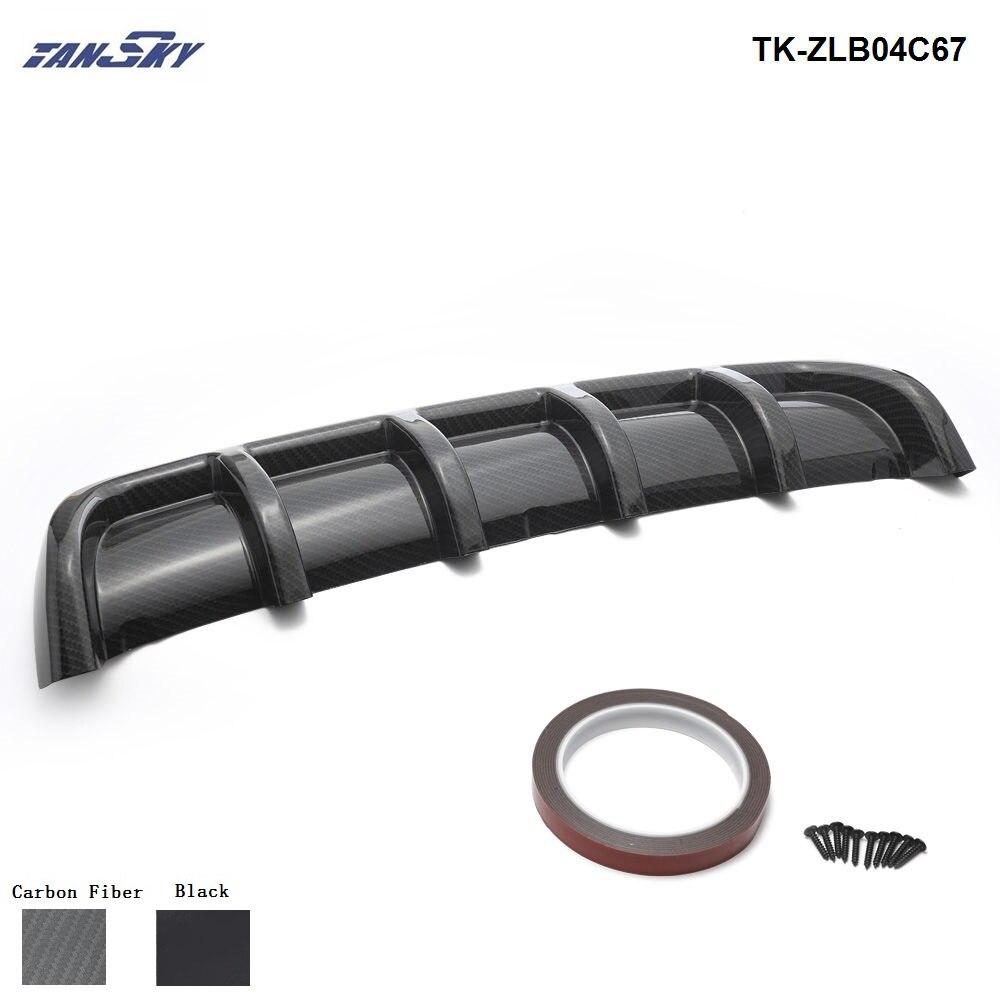 Pair Carbon Fiber Pattern Front Rear Bumper Corner Extended Protector Lip Guards