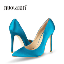 Women shoes 12cm High Heel Women Pumps Sexy Office Lady Shoes Pointed Toe Classic High heels Black Blue shoes women