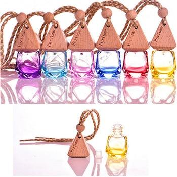 цена на car perfume Home Car Hanging Air Freshener Perfume Fragrance Diffuser Empty Glass Bottle perfumes auto lot