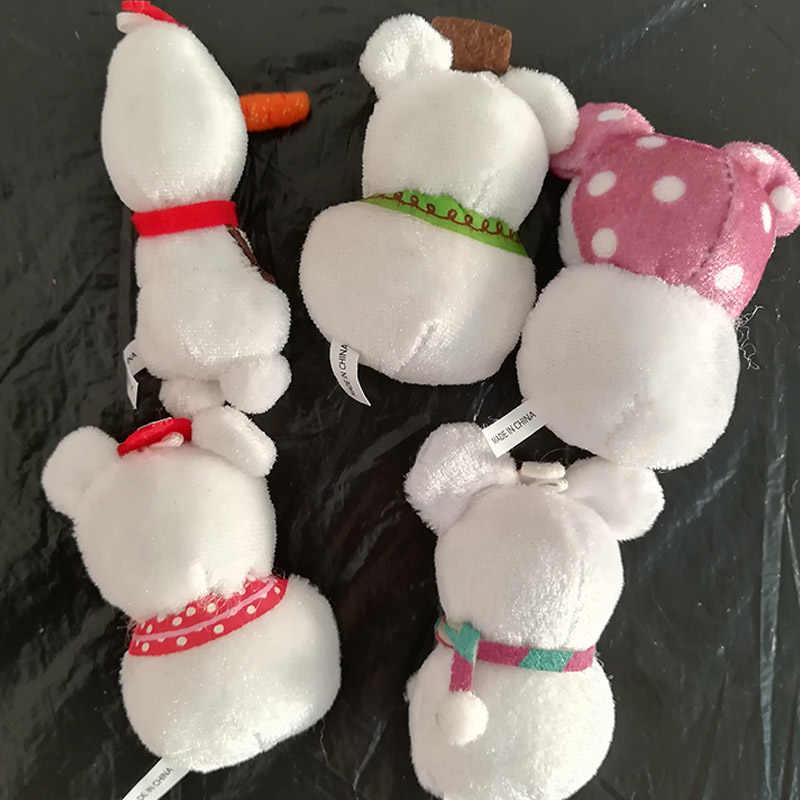 5-6 см мультфильм Рождество Микки и Минни Маус Мышь снеговик Олаф плюшевые кулон мягкие игрушки брелок кукла, Детский Рождественский подарок, дерево декор