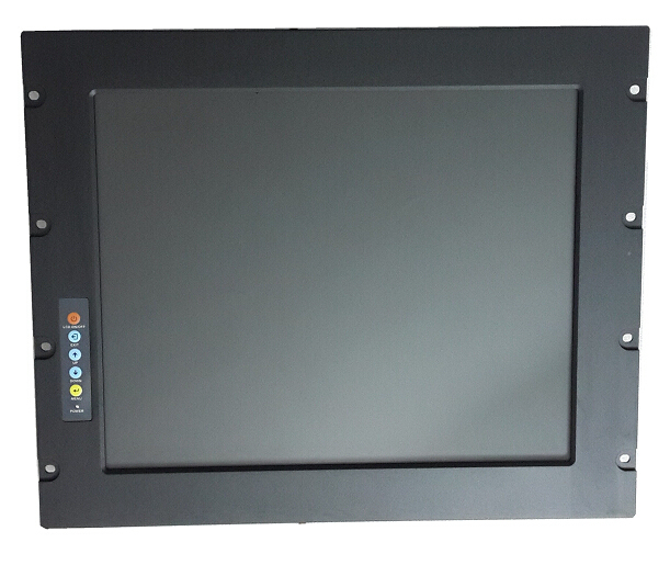 "Rack Mount 19"" LCD Monitor,  with long life time industrial touch screen, 9U Rack Mount LCD Monitor, display terminal"