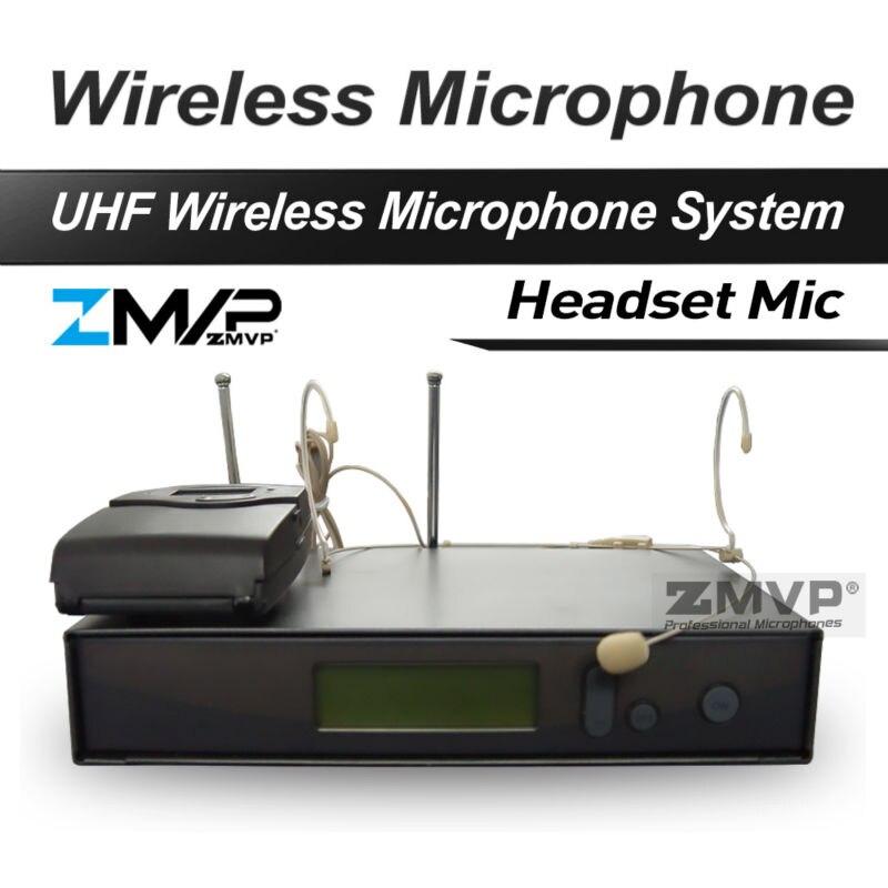 Free Shipping! 322 G2 Professional UHF Wireless Microphone Wireless System With BodyPack Transmitter Headset Headworn Mic freeboss ku 22h2 uhf wireless microphone system dj karaoke 2 lapel 2 headset microphone 2 bodypack transmitter