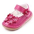 Высокое Качество Красивая Кожа Цветок Мелкая Девочка Принцесса Обувь 1-3 Лет