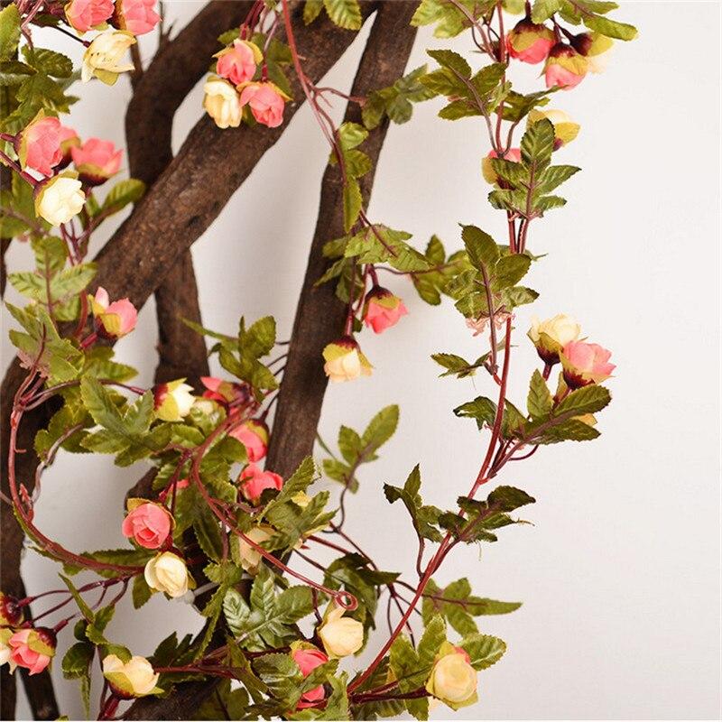 220 εκατοστά Fake Τριαντάφυλλα μετάξι Ivy - Προϊόντα για τις διακοπές και τα κόμματα - Φωτογραφία 4