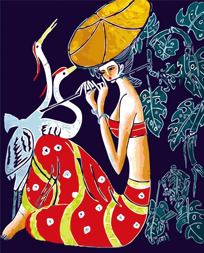 Krásná dáma yunnan Čína pokoj výzdoba malby pro obývací pokoj olejomalba obrázek podle čísel kreslení číslami DIY obrázky