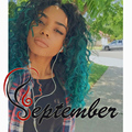 Green ombre loose curly synthetic lace front wig heat resistant synthetic lace front wig for black women kinky curl wig