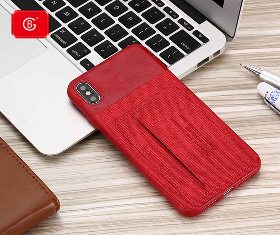 יוקרה סיליקון Shell Case עבור iPhone X XS MAX XR 6 S 7 8 בתוספת טלפון ינס כרטיס מקרה 360 מלא עמיד הלם חזרה נרתיקי כיסוי Coque