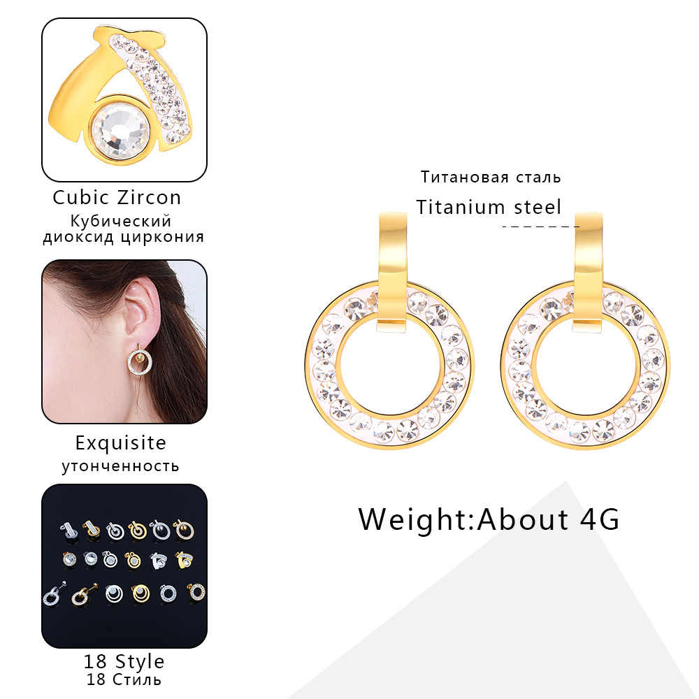 ZUUZ stud bông tai 2018 đồ trang sức thời trang phụ kiện thép không gỉ cho phụ nữ bạc đồ trang sức vàng earing brincos nữ của phụ nữ