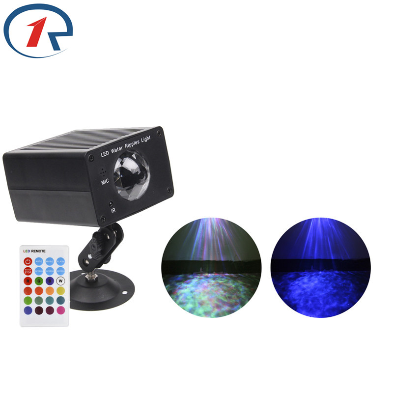 ZjRight IR Remote colorful Water Wave Effect Stage Light Sound control Projector effect lights for party disco ktv bar dj lights