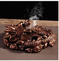 Creative Design Unique Portable Living Room Ashtray For Car Interior Home Frame Dragon Ashtray As Gift