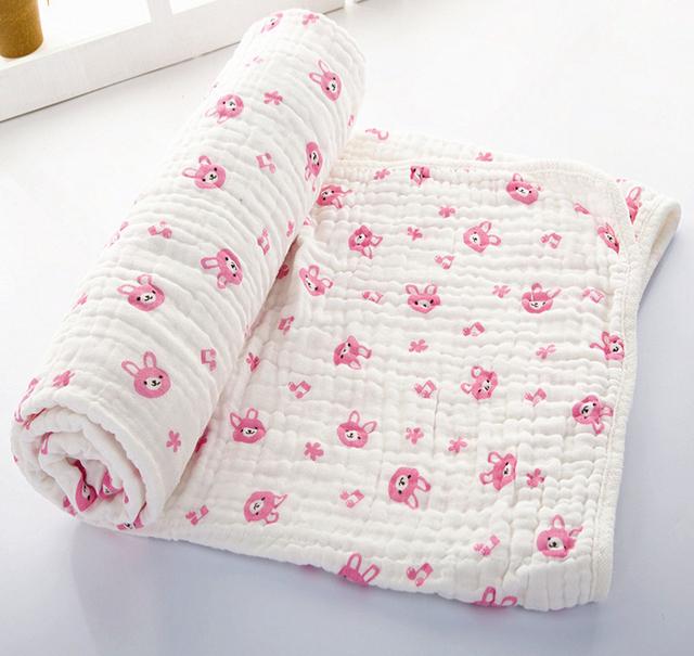 Bebé Muselina Swaddles 70*150 cm 100% Seersucker Algodón 6 Capas Recién Nacido Bebé Edredón Mantas de Baño Suave Mantenga Envuelve