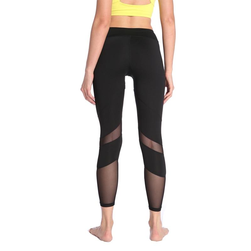 bae318d0d JOYMODE Pantalón Yoga Para Mujer Medias Polainas Ejecutan Pantalones  Deportivos Mujeres Gimnasio Correr de Malla Pantalones de Entrenamiento Pantalones  de ...