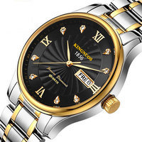 2017 Fashion Gold Men Watch Top Brand Luxury Quartz WristWatches Business Male Clock Calendar Date Hodinky