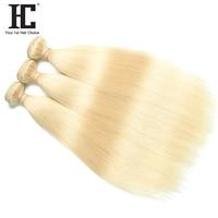 HC Haar Unternehmen Malaysian Glattes Haar Menschlichen Haarverlängerungen 12 zu 24 Zoll Ein Stück Nicht Remy Haar Weben 613 Blonde Bundles