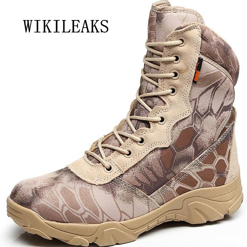2018 new military boots men desert ankle boots tactical boots footwear Army fans outdoor climbing camouflage platform shoes men цена