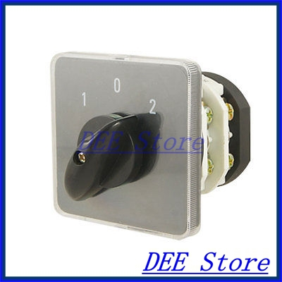 Ith 20A 8 Screw Terminals Rotary Combination Cam Switch thgs 8 terminals 5 positions master control rotary cam switch 20a black blue