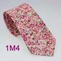 2015 Lazo de YIBEI Coachella Corbatas Para Hombres de Las Mujeres de Algodón de Color Beige Bottom Flores Rosadas Calientes Corbata Corbatas 8 cm Boda de La Novedad Corbata