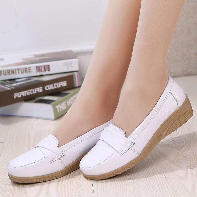 2016 spring and autumn new women's fashion casual shoes mom soft bottom shoes elderly comfortable work shoes, free shipping