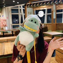Canvas Cute Printing Women's Bag Cartoon Cute Dinosaur Crossbody Bag Femininas Zipper Luxury Small Satchel Cute Girl Toy Bag(China)