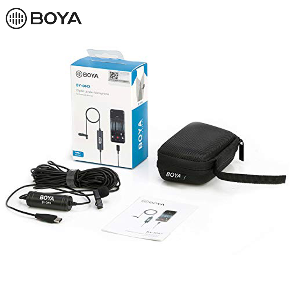 BOYA BY DM2 Omni directional MIC Digital Lavalier Microphone Clip on Video Recording Mic with Type C for Android Devices in Microphones from Consumer Electronics