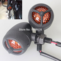 New Black Bullet Turn Signal LED Amber Light fit  for Harley Sporster 883 48 Suzuki Kawasaki