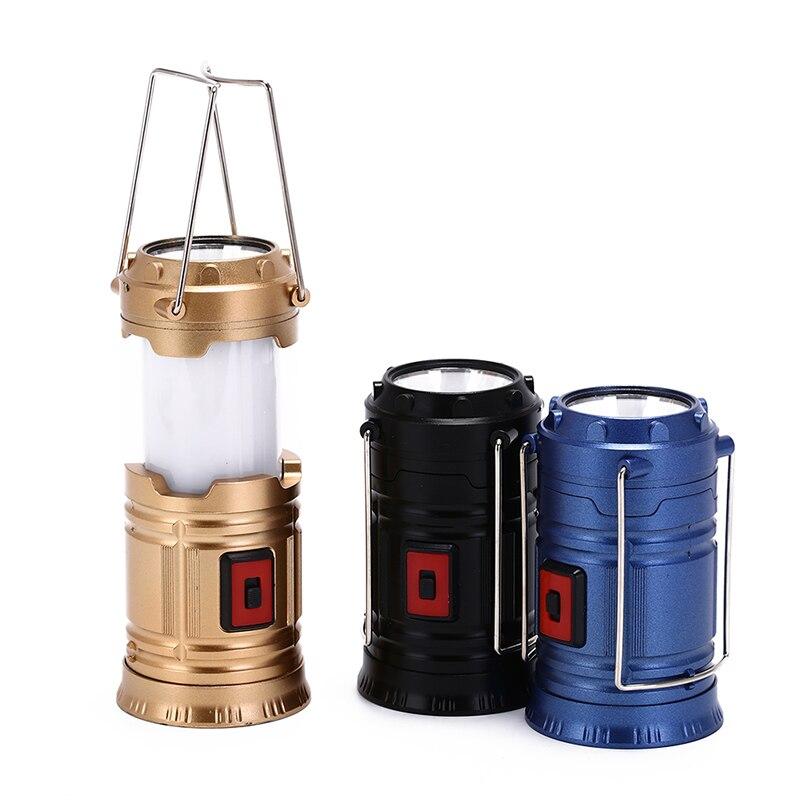 1 Pcs Attrezzature Led Lanterna Di Campeggio Torcia Pieghevole Luce Della Tenda Solare Accessori Attrezzi Per Le Escursioni Outdoor Caso Di Emergenza