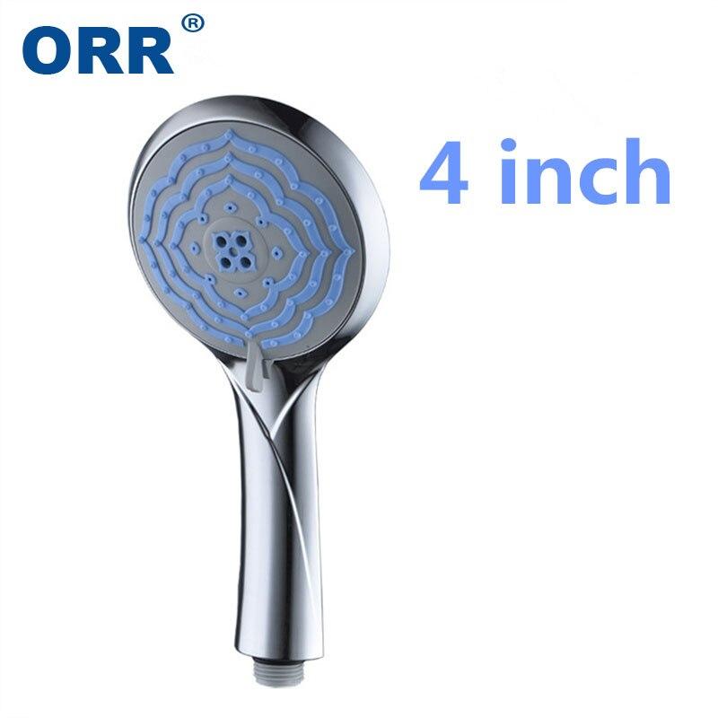 Europe Classical 4 inch Chrome Handheld Rainfall SPA Water Shower head Bathroom Accessories Chuva torneira do chuveiro Lluvia
