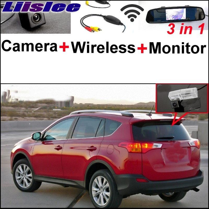 Liislee récepteur sans fil + 3 in1 caméra de vue arrière spéciale + moniteur miroir facile bricolage système de stationnement pour TOYOTA RAV4 2013 ~ 2015