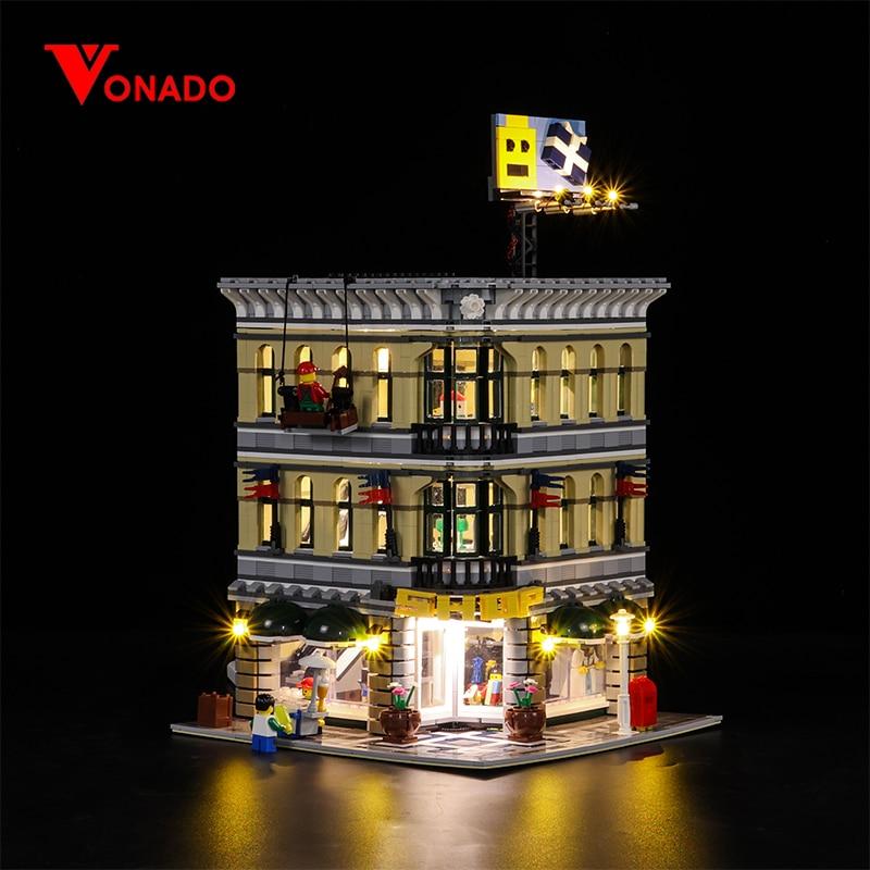 Led Light For Lego 10211 Building Blocks Grand Emporium Compatible 15005 Bricks Creator City Street toy