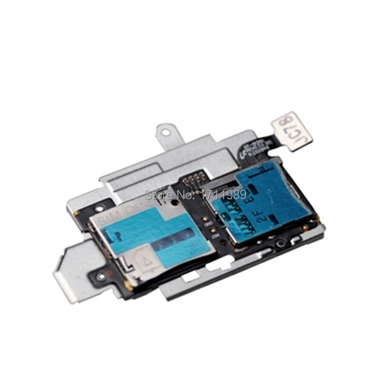 SIM Card Slot & Micro Socket SD Memory Card Tray Reader Holder Socket Flex Cable For Samsung Galaxy S3 I9300 Replacement Parts