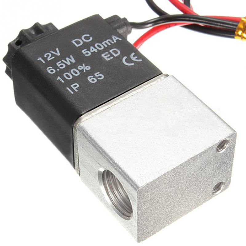 new 1/4 2 Way Normally Closed Pneumatic Aluminum Electric Solenoid Air Valve 12V DC Water Oil Liquid Water Solenoid Valve 1 2 electric solenoid valve for water air n c normally closed dc 12v new