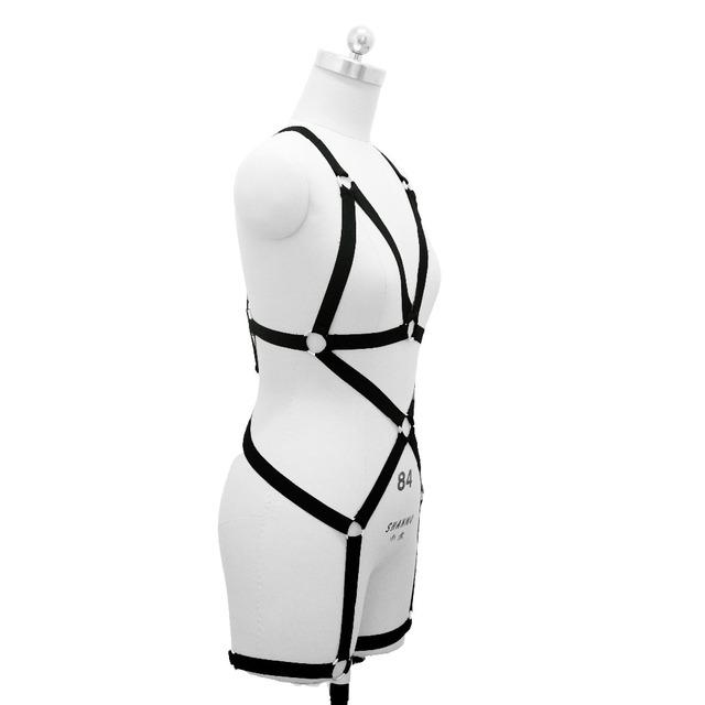 New fashion pastel goth O ring strap  bust garter belt punk wear women suit sexy lingerie female bust dress set bondage  retail
