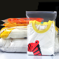 100Pcs Lot Transparent Zip Lock Plastic Clothing Grocery Home Storage Packing Bag Zipper Clear Reclosable Package