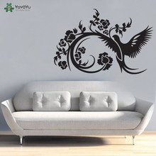 YOYOYU Wall Decal Vinyl Home Decor Bird Flower Love Sky Wall Stickers Art Removable Wall Sticker Mural Poster YO483 blue sky 3d mordern wallpapers floor sticker removable mural decals vinyl art star sky ground ceiling stickers decal home decor