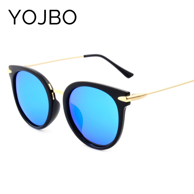 YOJBO Sunglasses Men font b Polarized b font Round Mirror Women Brand Designer Vintage Oversized Ray
