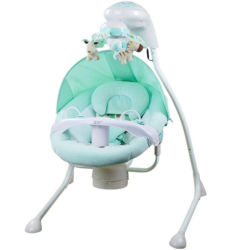 Bébé berceau électrique chaise berçante lit balançoire nouveau-né bébé intelligent balançoire sommeil gauche et droite balançoire chaise - 5