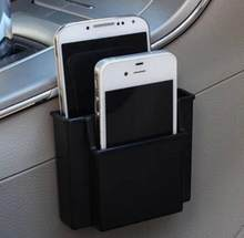 New Multifunctional Car Cell Phone Holder Black Mobile Phone Charge Box Holder Pocket Organizer Car Seat Bag Storage(China)