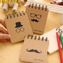 10x8.5cm 1 PC New Fashion Men Style Notebook Creative Notepad Business Diary Office Student Portable Note book Creative(China)