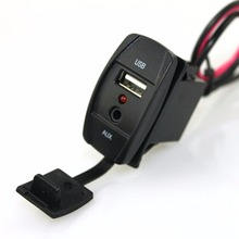 12V Car Audio Accessories 3.5mm Jack AUX/ USB socket adapter for Toyota car audio adapter for toyota