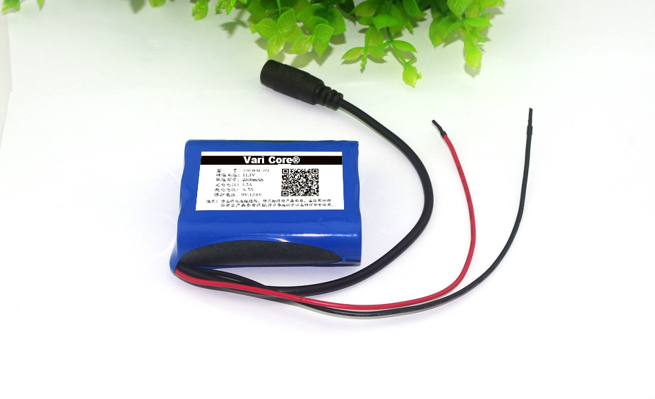 12 V 3000 mAh <font><b>18650</b></font> Li-ion Rechargeable <font><b>battery</b></font> <font><b>Pack</b></font> for CCTV Camera 3A <font><b>Batteries</b></font> image