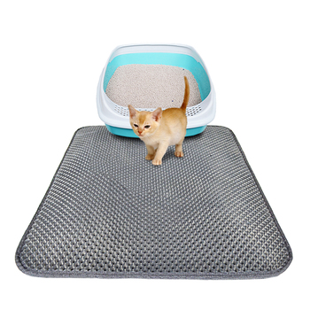 2018 Newest Grey Cat Litter Mat 1