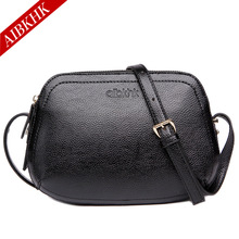 AIBKHK Fashion Women Bag Genuine Leather handbag han edition three layer inclined shoulder bag leather shell package bag S9142