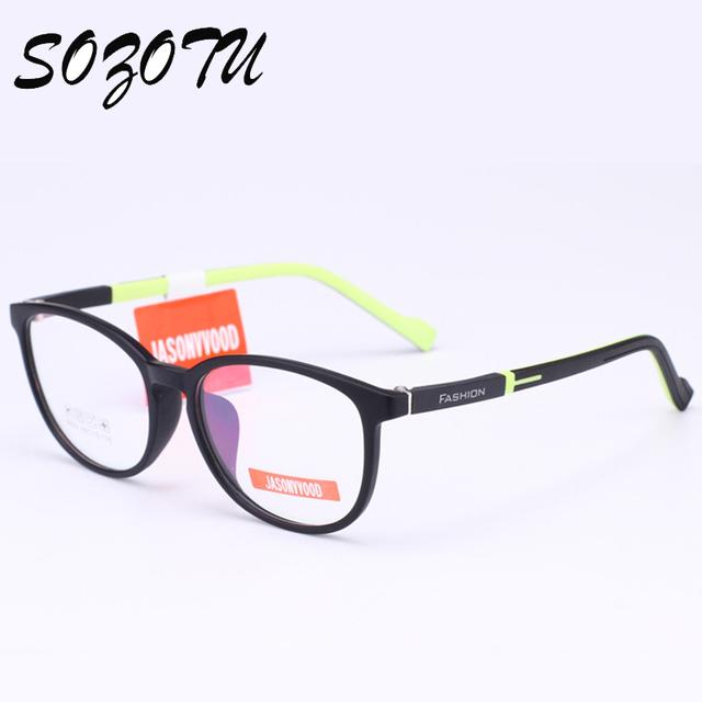 Niños Niños Niñas Estudiantes de La Miopía Marco de Las Lentes Ópticas Gafas TR 90 Montura de gafas Para Niños Gafas YQ200
